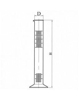 цилиндр 1-10 полипропиленовый с делением