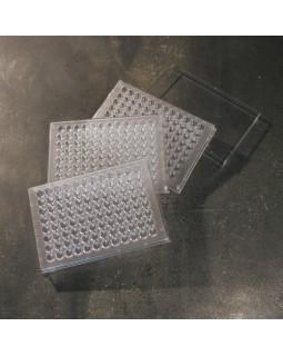 """планшет с лунками для лабораторных исследований, ПС, 96 лунок, """"П""""-образное дно, стерильный, крышки отдельно, шт"""