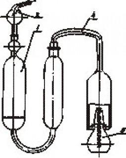 прибор для опpеделения сеpы ламповым методом