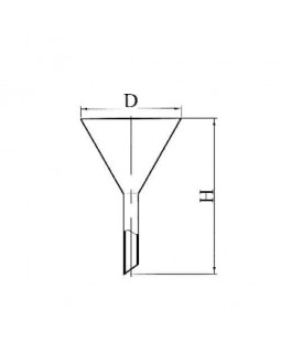 воронка кварцевая 110 мм ГОСТ 19908-74